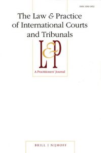 The Law and Practice of International Courts and Tribunals