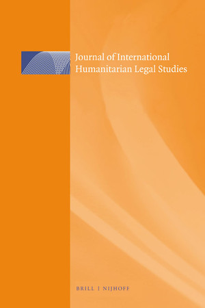 Journal of International Humanitarian Legal Studies