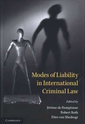 Modes of Liability in International Criminal Law