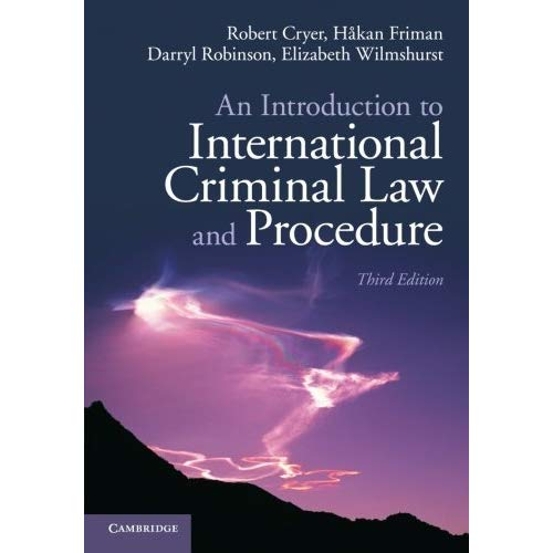 an Introduction on International Criminal Law and Procedure