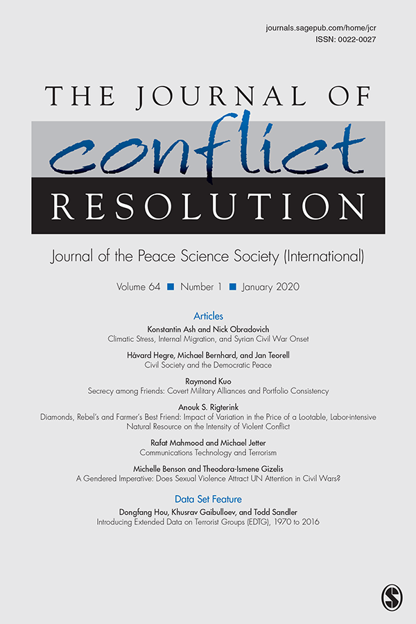 The Journal of Conflict Resolution