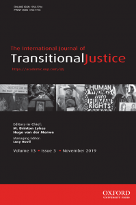 International Journal of Transitional Justice