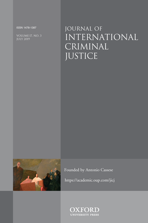 Journal of International Criminal Justice